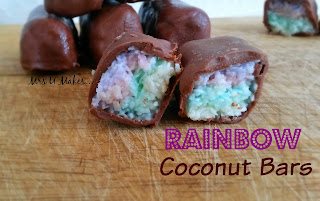 Mrs U Makes... Rainbow Coconut Bars #mymrsumakes #nobake @MrsUMakes