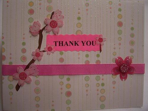 thank you notes to teachers. handmade thank you cards for