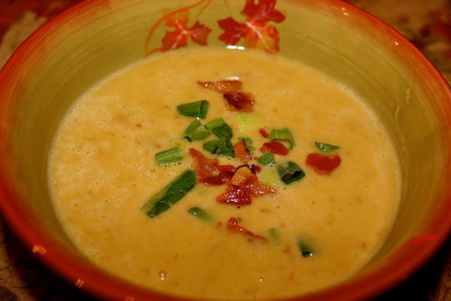 Bacon Scallion Yellow Split Pea Soup