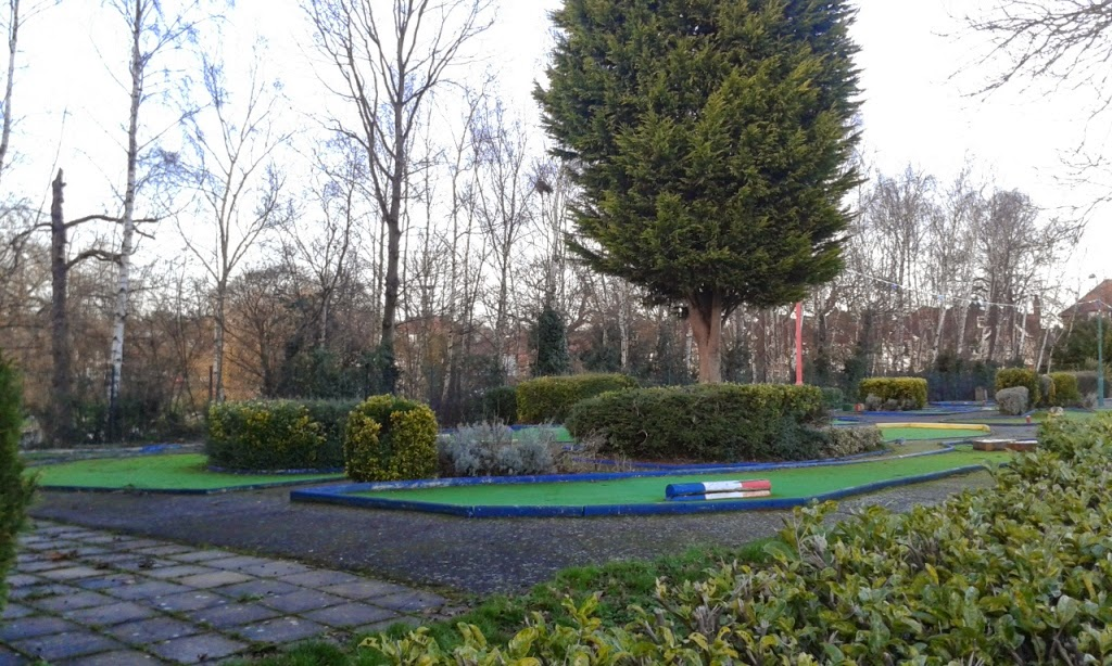 Crazy Golf at Broomfield Park in Palmers Green, London