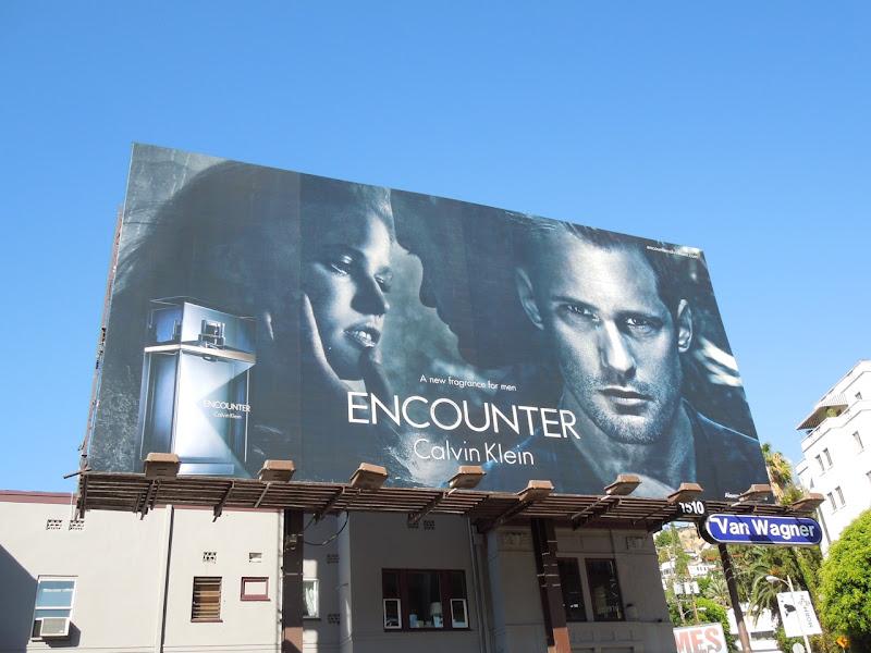 Calvin Klein Encounter fragrance billboard