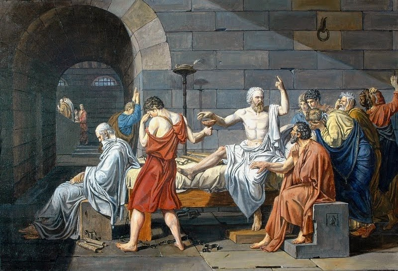 jacques louis davids portrayal of the death of socrates David suzuki essay  two examples of this are the davids done by michelangelo and bernini  the death of socrates by jacques-louis david.