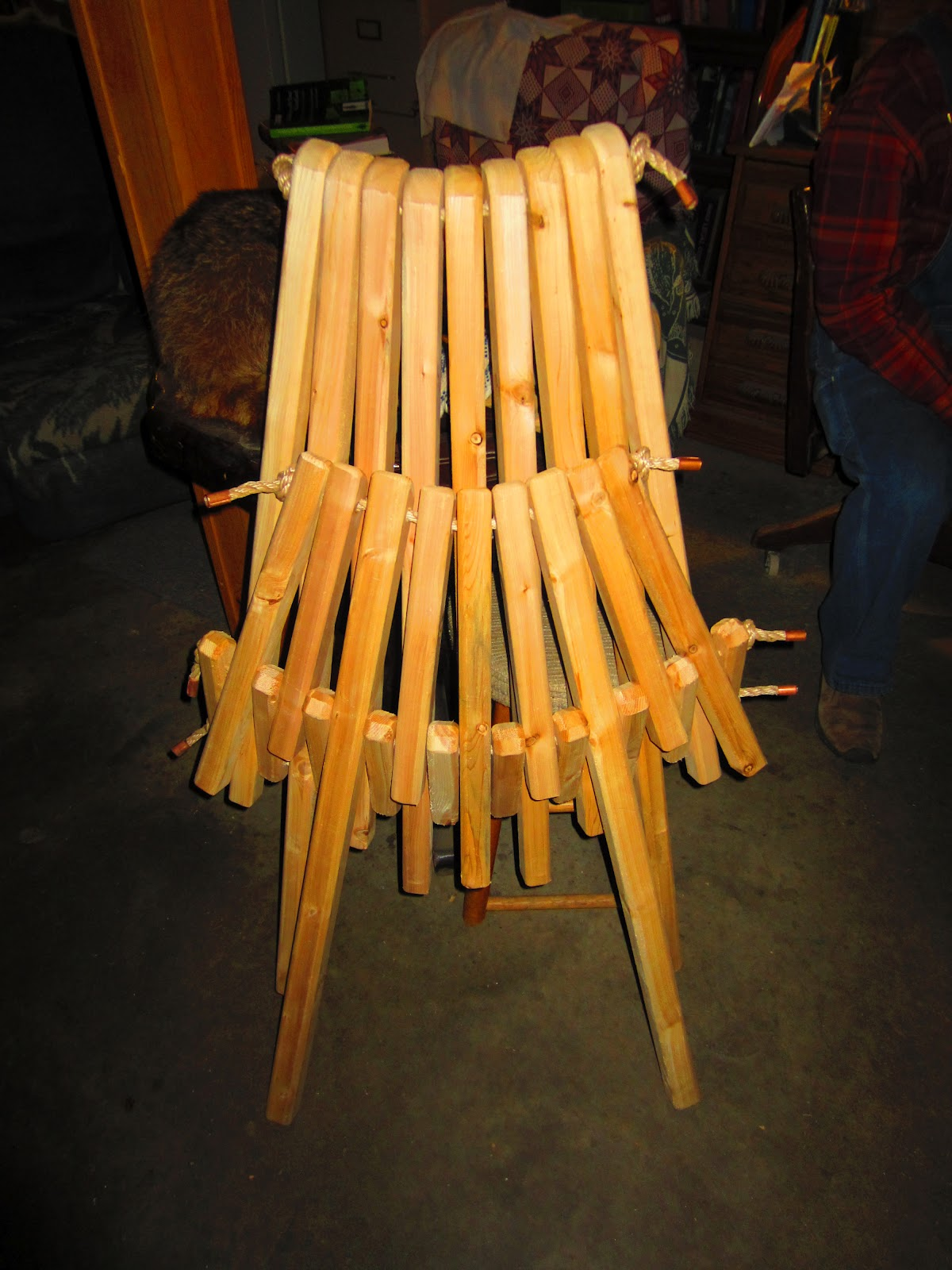 Relaxshacks Super Simple Folding Adirondack Chair for Tiny