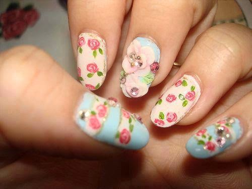 Uñas Decoradas con Flores, parte 2