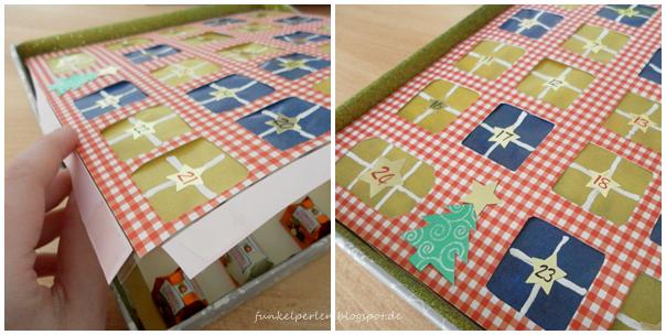 DIY: Adventskalender in der Box (jeden Tag ein Küsschen) // funkelperlen.blogspot.de