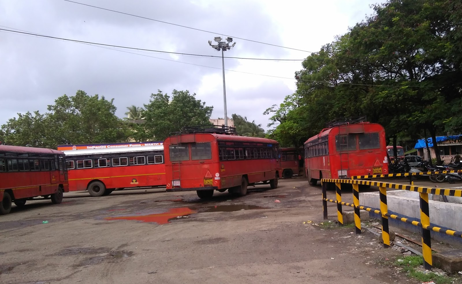 India S Transportation Msrtc Bus Stand
