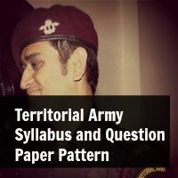 Territorial Army Syllabus and Question Paper Pattern