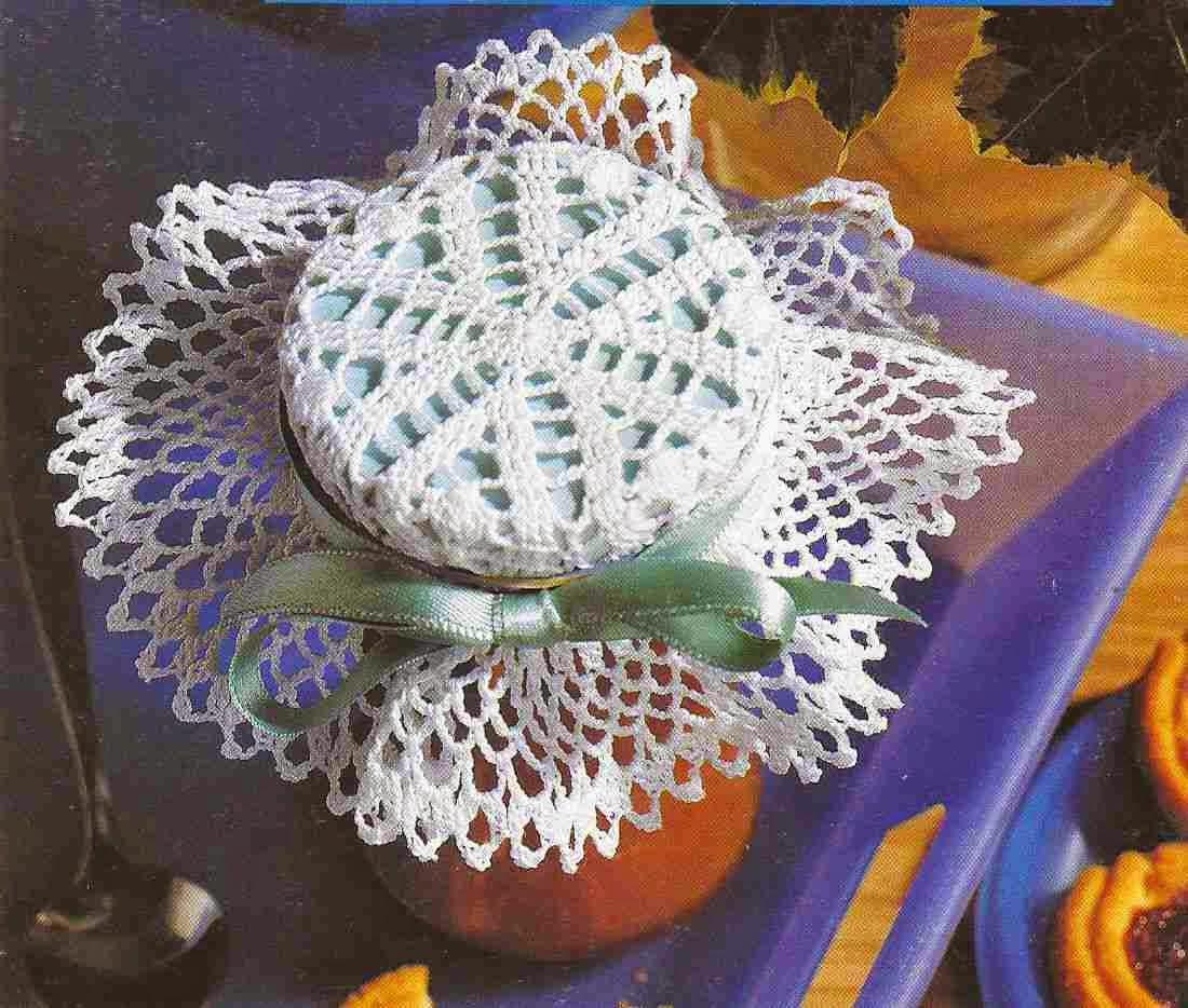 Adorno para Frasco a Crochet