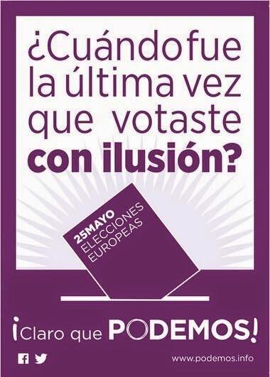 Típico lema cursi de partido: ¿Cuando fue la última vez que votaste con ilusión?