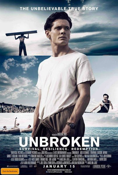 Poster of Unbroken 2014 720p BluRay Dual Audio
