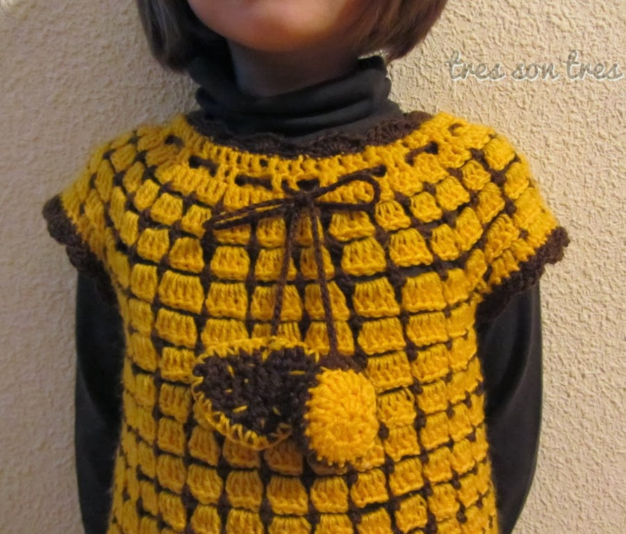 vestido, dress, niños, ganchillo, crochet,