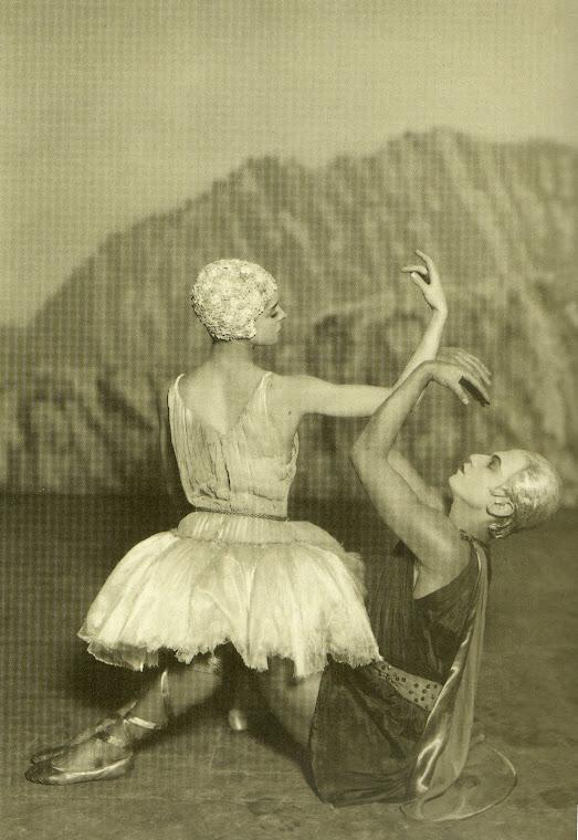 LIFAR  e  NIKITINA,  no  balé  Apolo,  Líder  das Musas.
