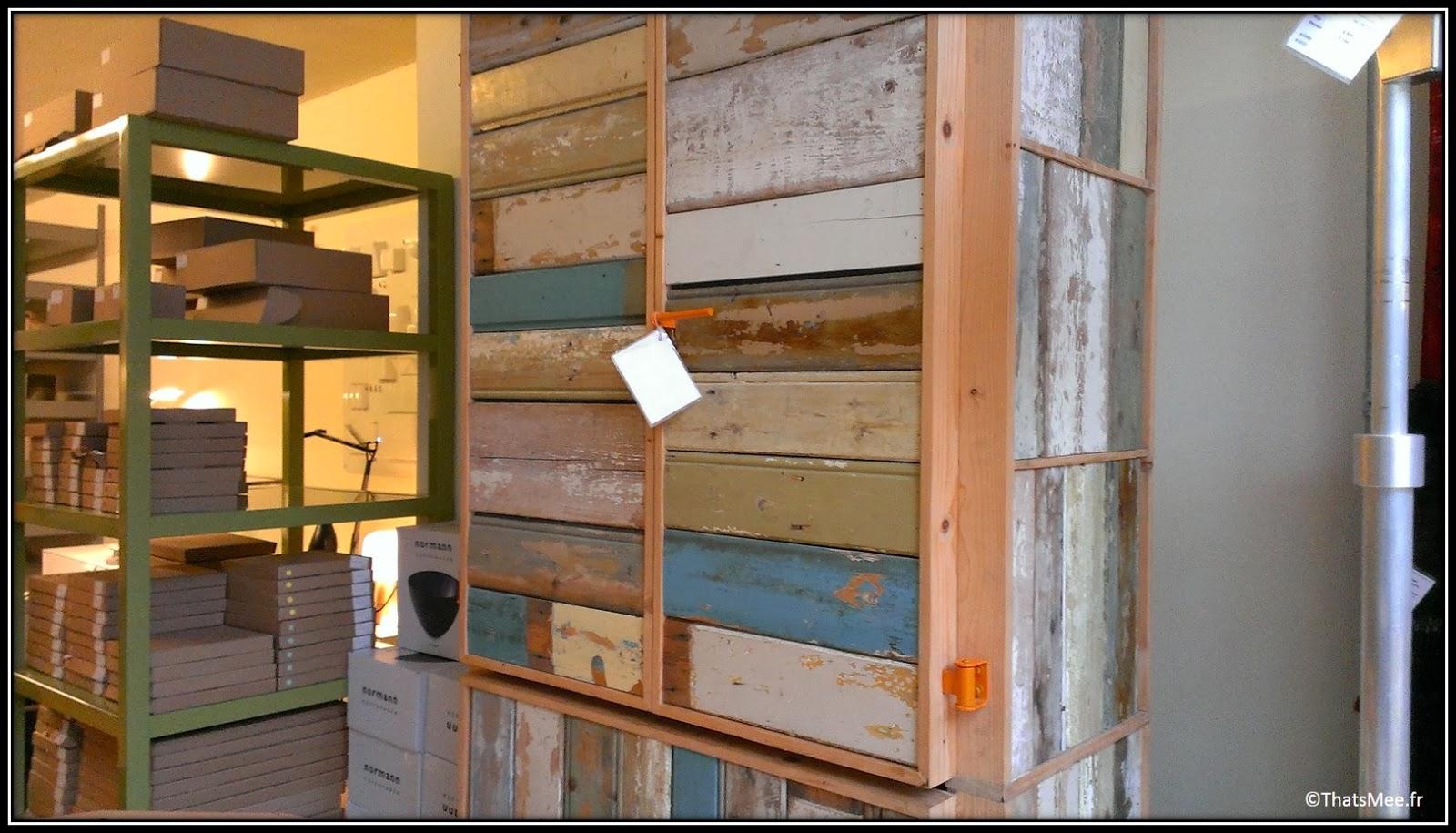 Frozen fountain deco concept-store design Amsterdam meuble bois recyclé