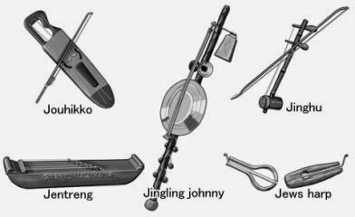 World musical instruments. Monochrome illustration. A to Z list [J]