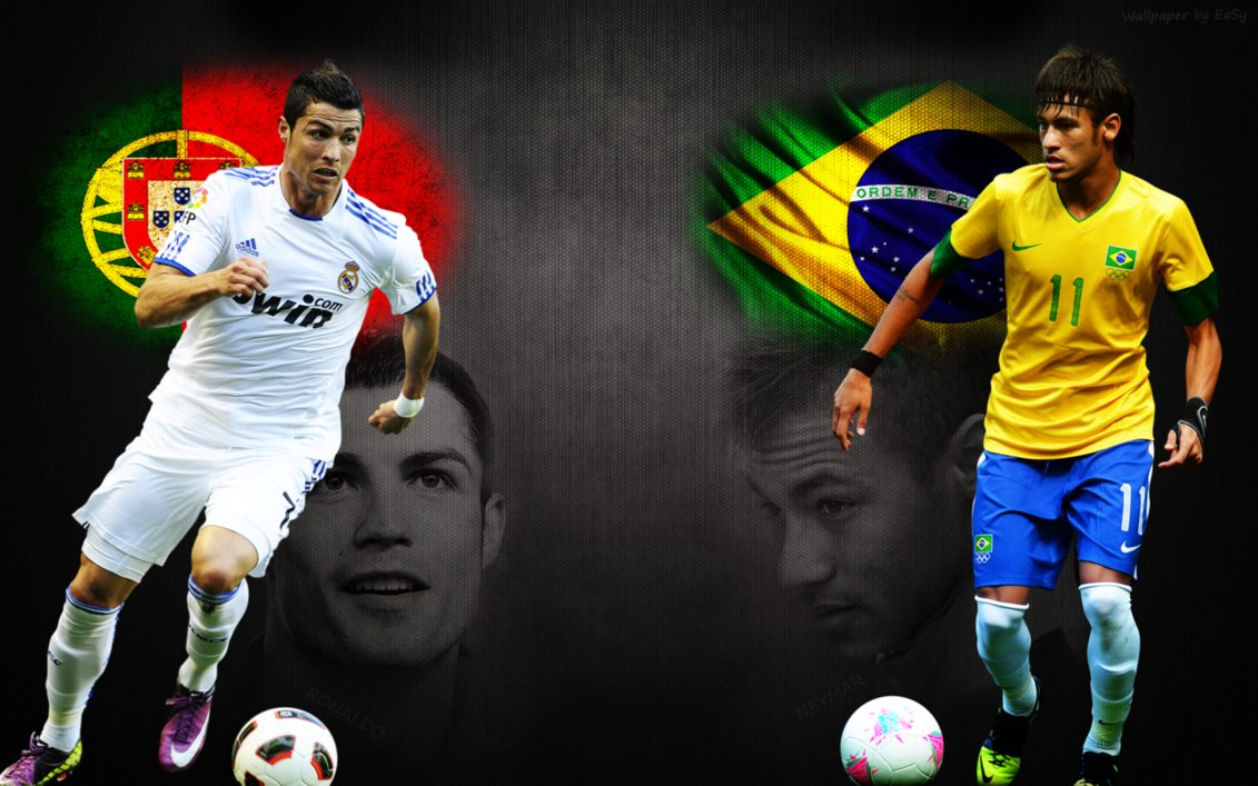 Neymar vs Ronaldo Wallpaper | Take Wallpaper