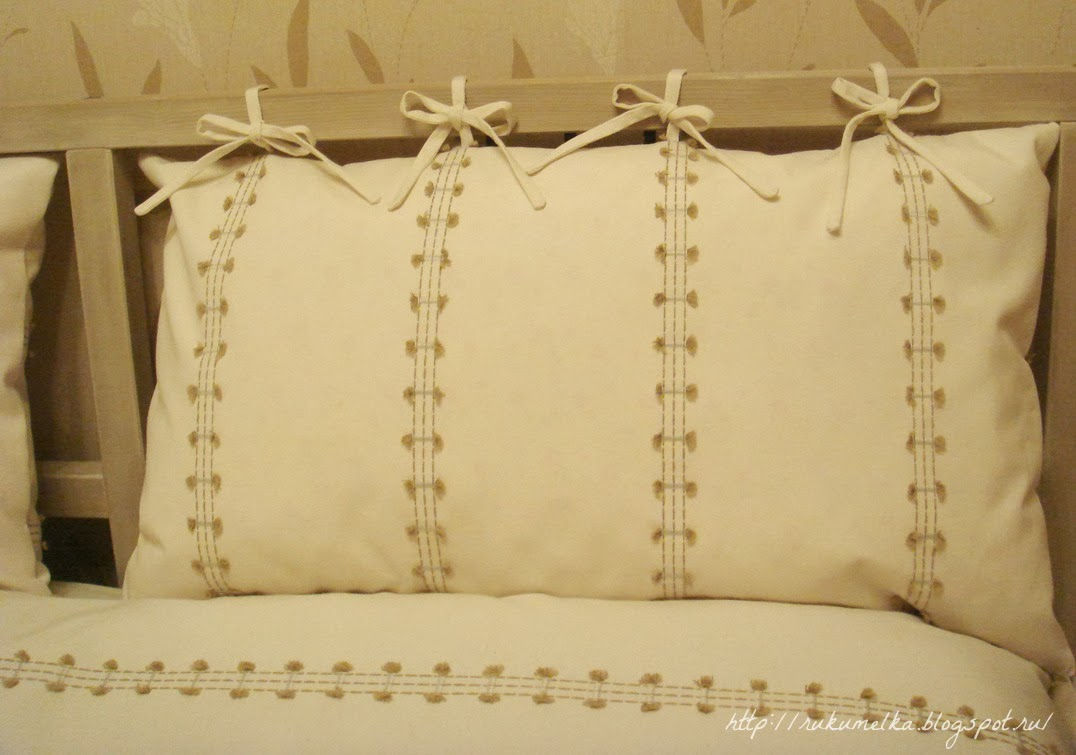Подушки для спинки своими руками