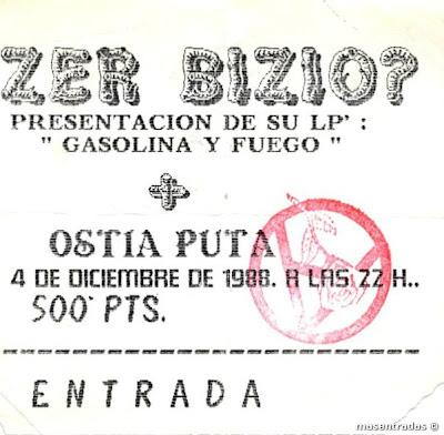 entrada de concierto de zer bizio