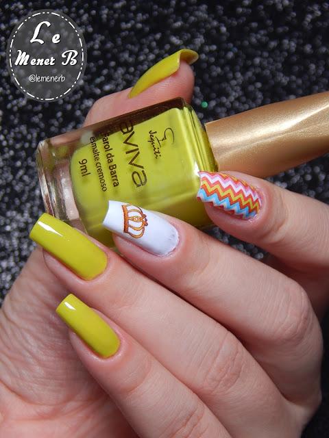 coroa nail art