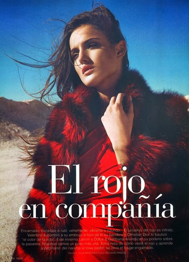 Magazine Photoshoot : Blanca Photoshot For Richard Ramos Telva Magazine January 2014 Issue