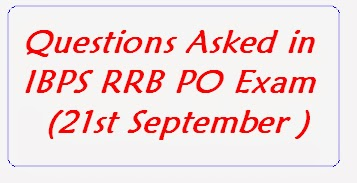 General Awareness Questions asked in Today's IBPS RRB POs Morning Exam