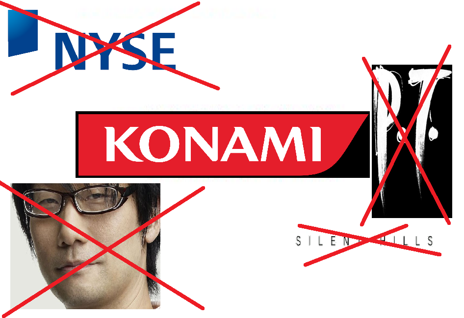 Konami delisted New York Stock Exchange removed P.T. cancelled Silent Hills fired Hideo Kojima