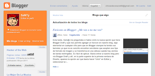 Nueva interfaz de Blogger