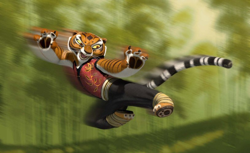 Tigress in Kung Fu Panda 2008 movieloversreviews.blogspot.com