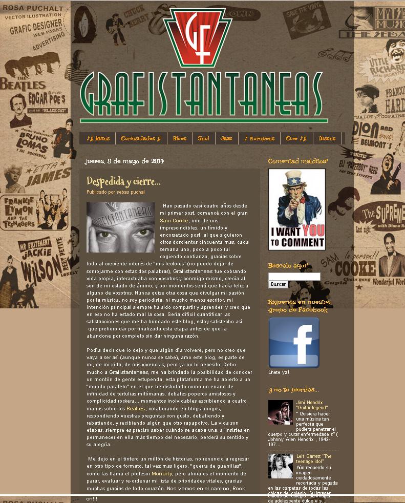 Cierran Blogs, se abren Blogs... Grafistantaneas | LasMilVidas