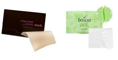 Mark Cheat Sheets and Boscia Blotting linens