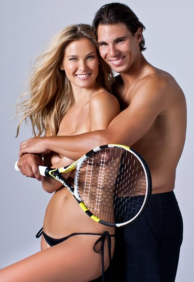 Rafa Nadal y Bar Refaeli posan para Sports Illustrated 2012
