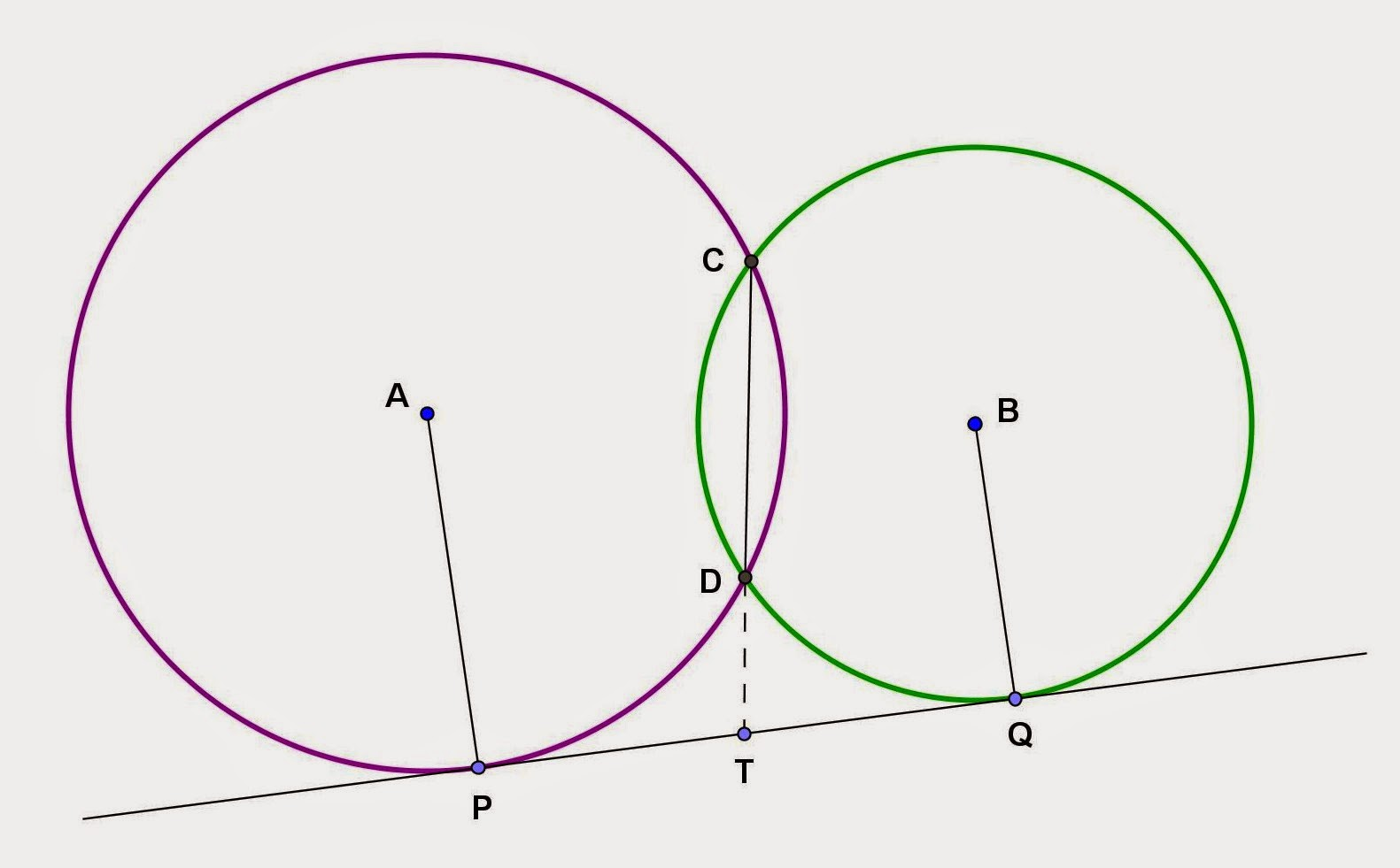 Math principles proving of two intersecting circles photo by math principles in everyday life hexwebz Gallery