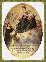 NUESTRA SEÑORA LA VIRGEN MARÍA Y SU SANTÍSIMO ROSARIO. (Toque sobre la imagen)