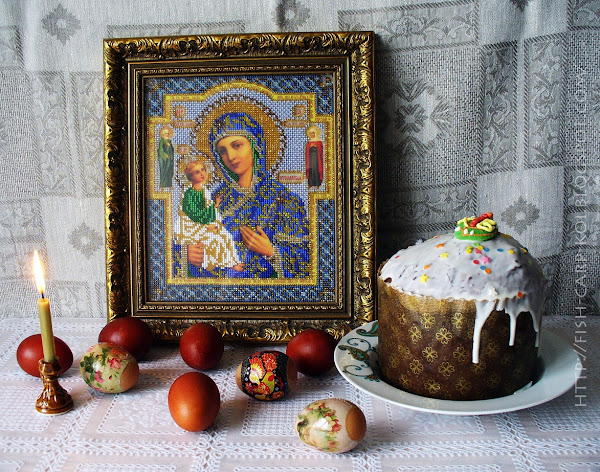 Вышивка бисером - Икона - Богородица Иерусалимская