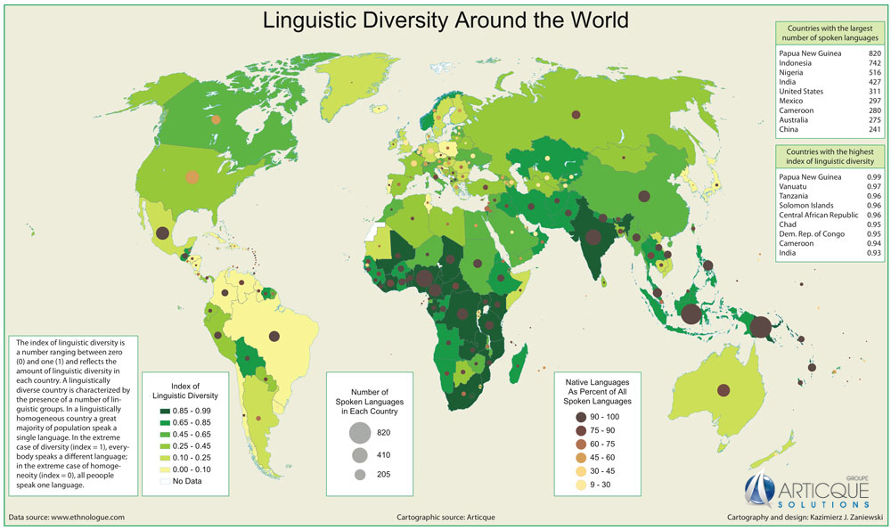 languages the diversity of the world Estimates of the number of human languages in the world vary  traits between languages language contact occurs when  the cultural diversity of the world.