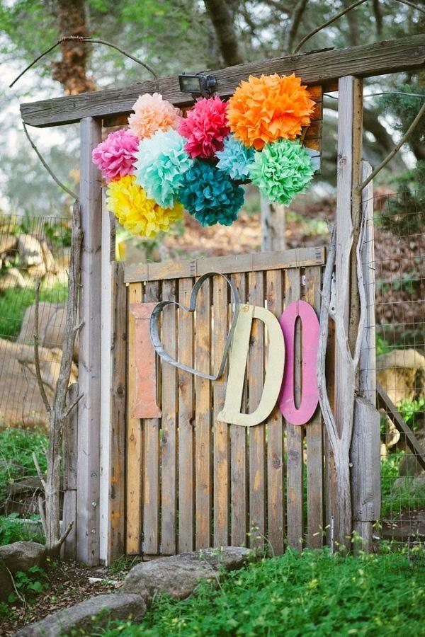 pompones boda