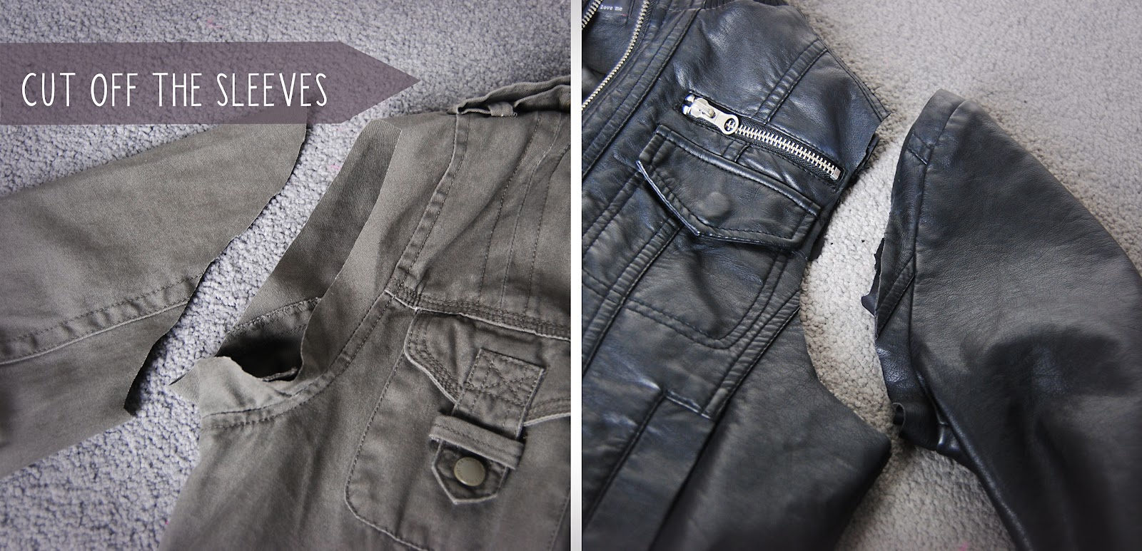 DIY Leather Sleeved Parka Jacket | Hello Gwen