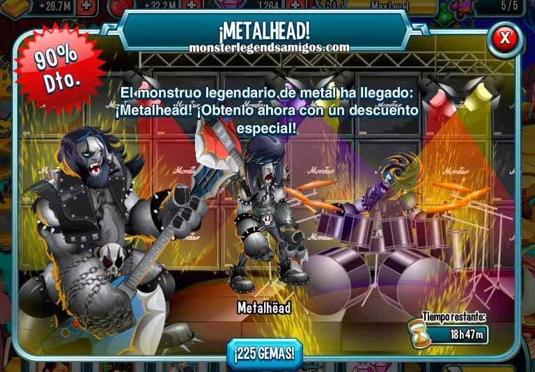 imagen de la oferta del monstruo legendario de metal de monster legends