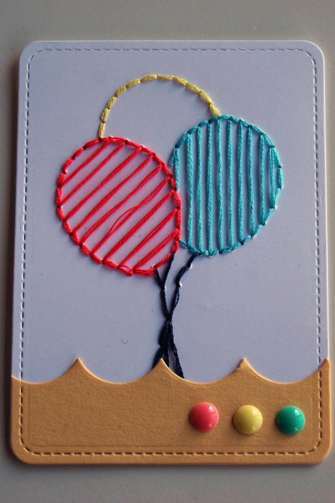DIY PL card with stitching by Mandy Reedyk