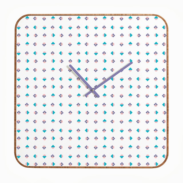 pastel arrow pattern clock