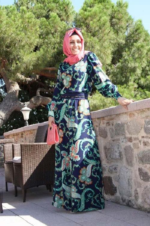 Rengarenk 2013 Tesettür Abiye Modelleri