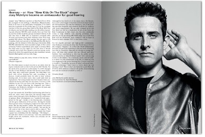 Joey McIntyre featured in Hear the World magazine