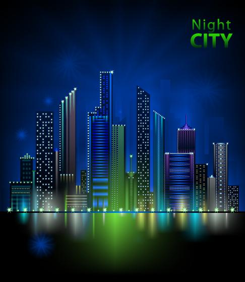 gran ciudad en vectores