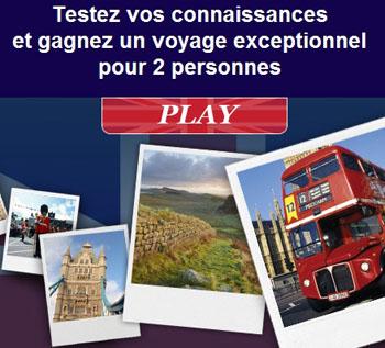 Jeu concours : Gagnez un voyage à Londres pour 2 personnes...