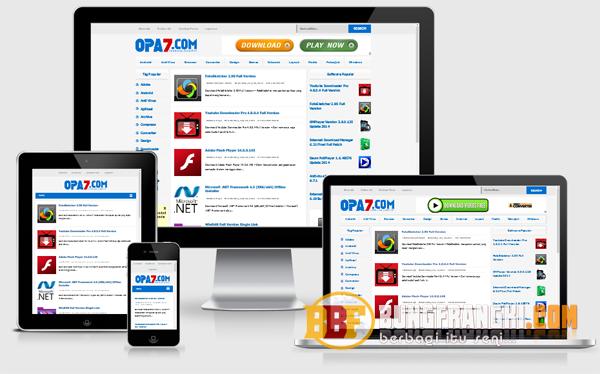 Opa7 Responsive Blogger Template