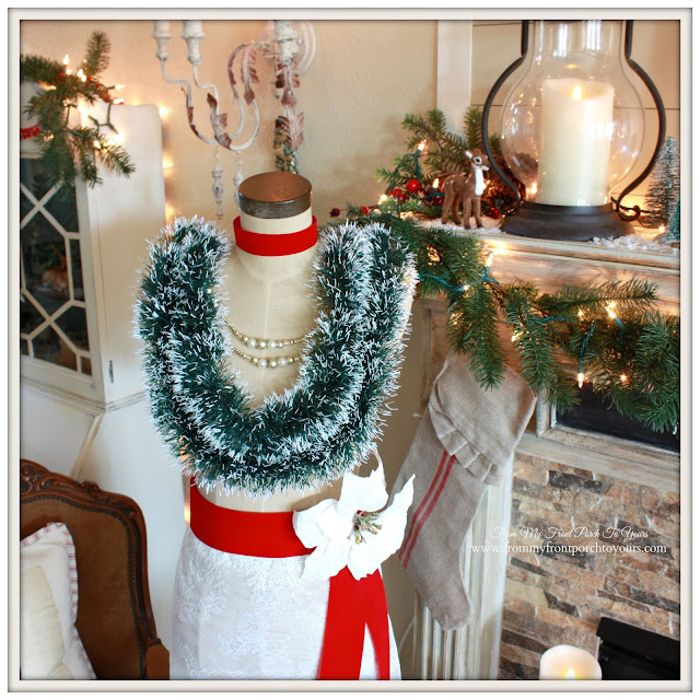 Designer Pick Thursday-Antique Farmhouse Dress Makers Form-Christmas Dress Form-From My Front Porch To Yours