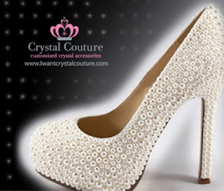 Wholesale Pearl Covered Bridal Shoes