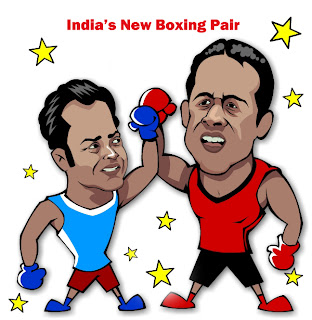 India's new boxing pair -Paes and Bhupathi