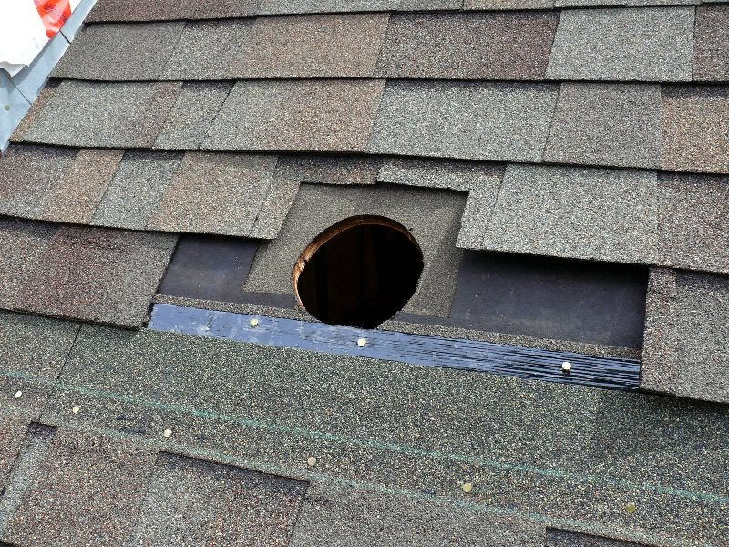 Building a house a simple plan roof vent for bathroom fan for Install roof vent for bathroom fan