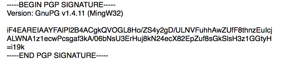 PGP allekirjoitus on epämääräisen näköinen