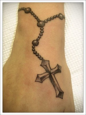 Tengol the mysteries of the rosary latest rosary beads for Rosary cross tattoo